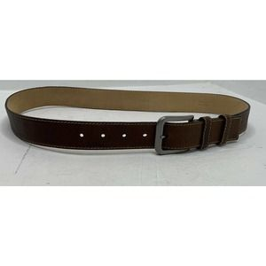 PRADA 100% Real Brown Leather Belt Size 34